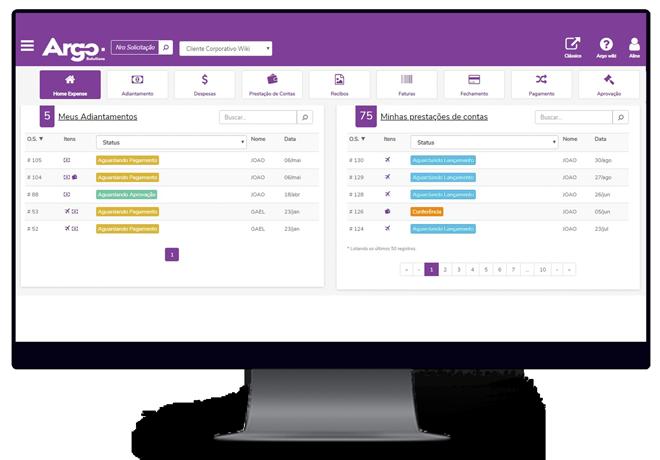 Gestão de Despesas Corporativas - Argo Solutions - Simplifying your journey