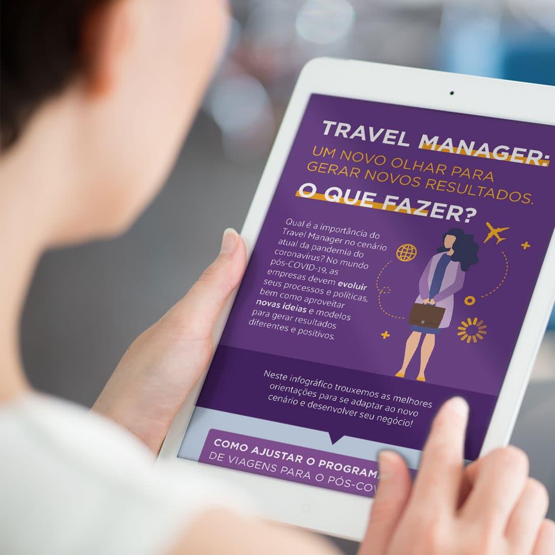 Infográfico Travel Manager: um novo olhar para gerar novos resultados
